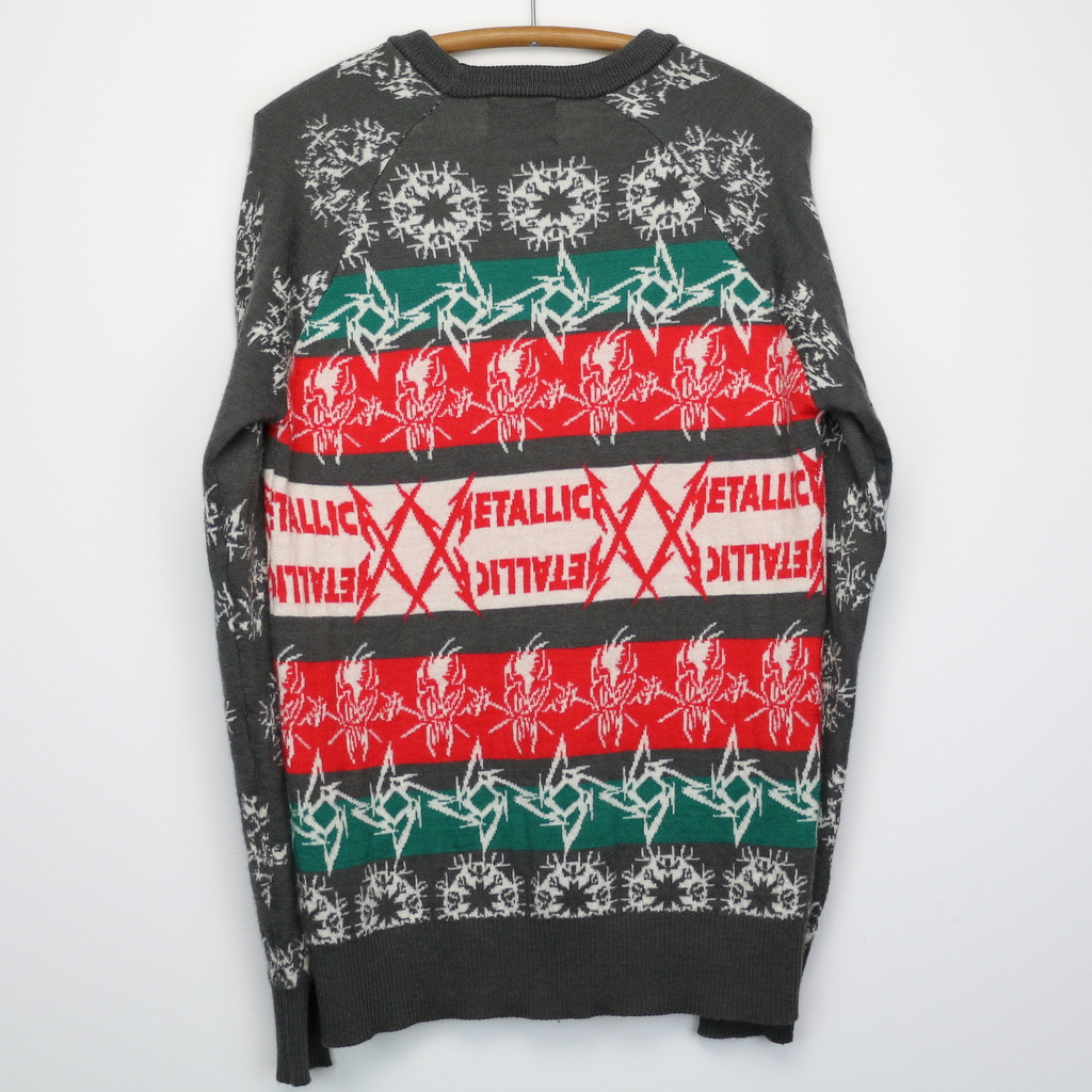 metallica christmas sweater 2013 wyco vintage